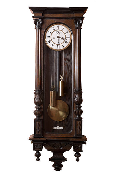 old clock. - pendulum stock photos and pictures