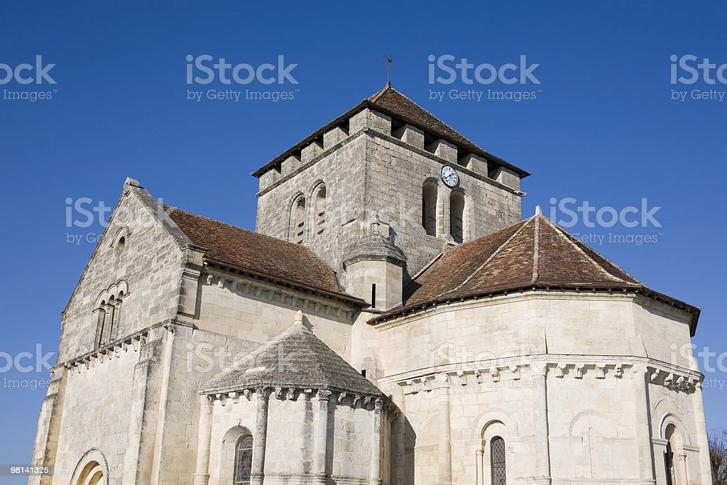 Old clock tower on clear day royalty-free stock photo