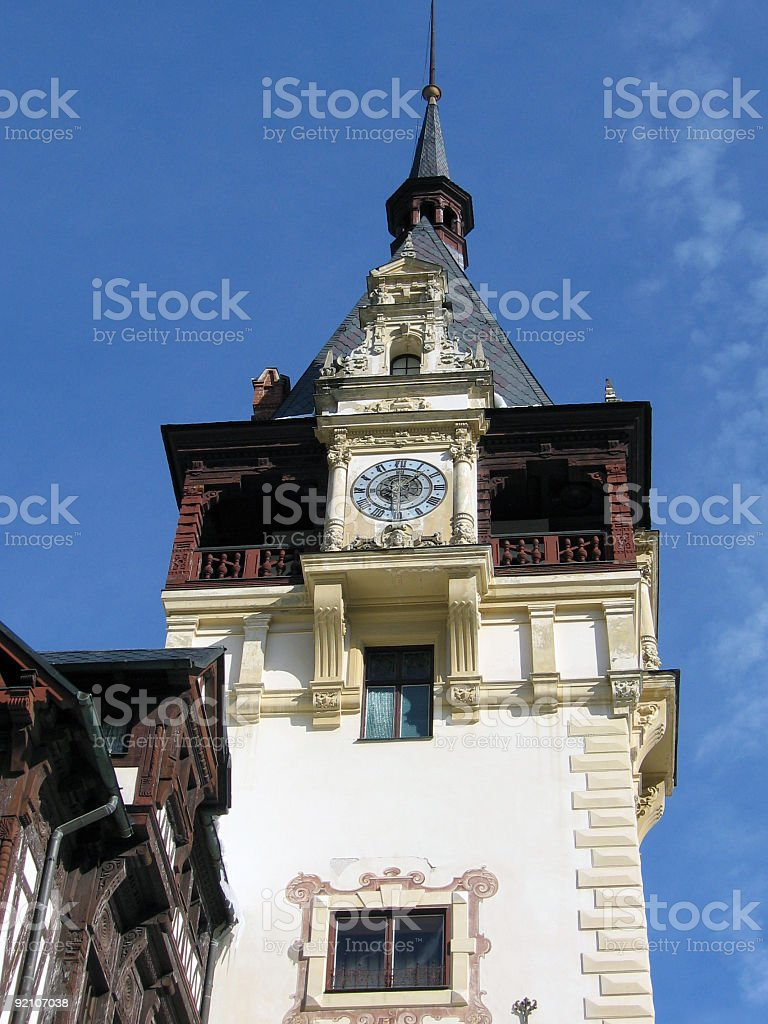 Old clock tower royalty-free stock photo