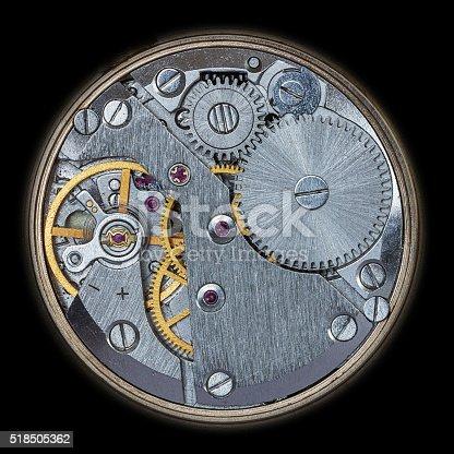 istock Old Clock Watch Mechanism 518505362