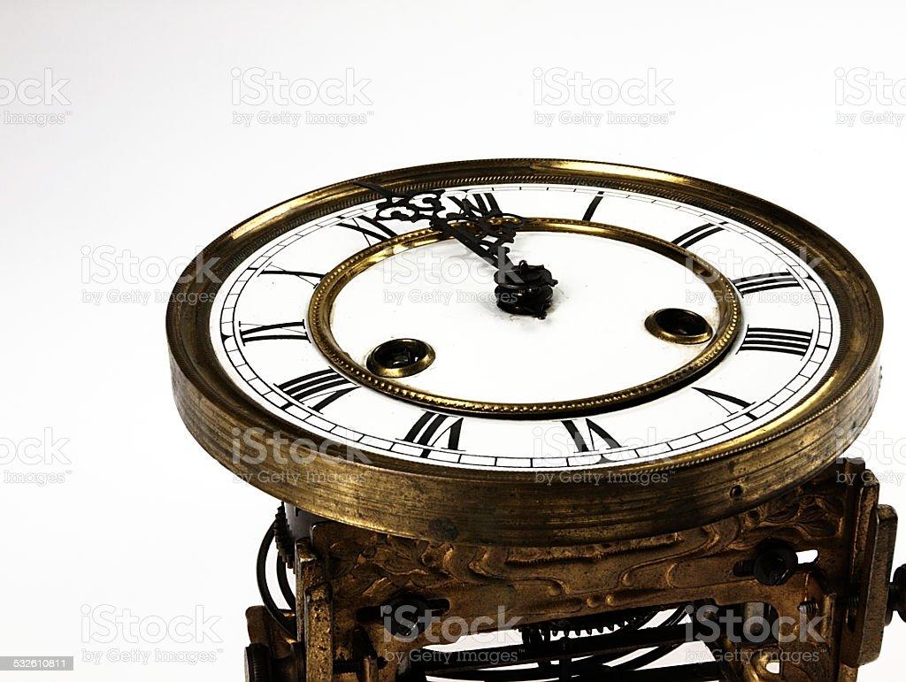Stary Zegar z cyfry rzymskie. – zdjęcie