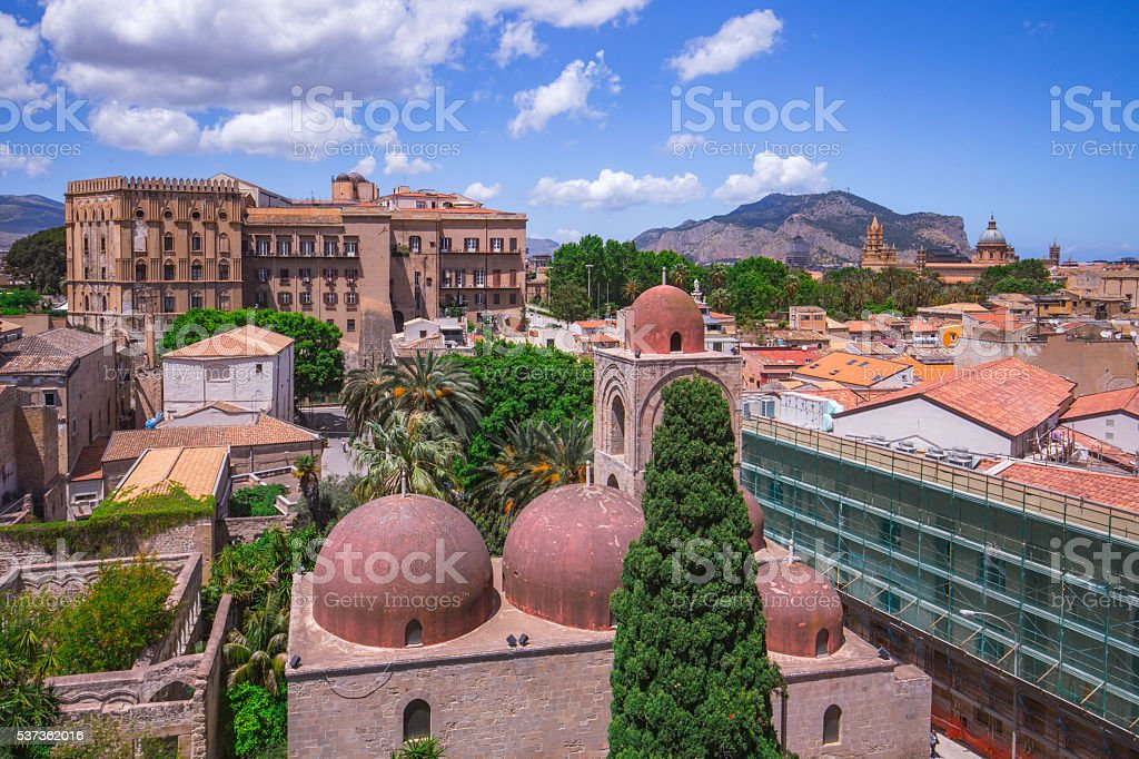 old cloister of saint john in Palermo, Sicily stock photo