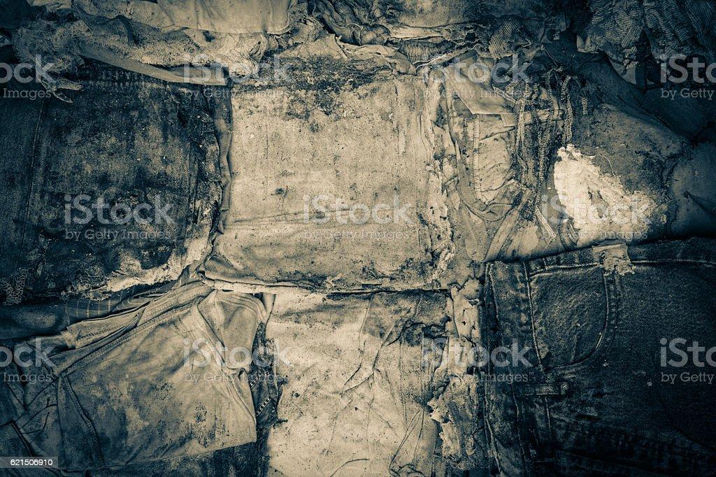 old clothes disintegrated as texture photo libre de droits