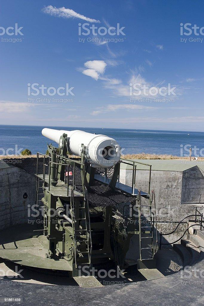 old coastal gun emplacement stock photo