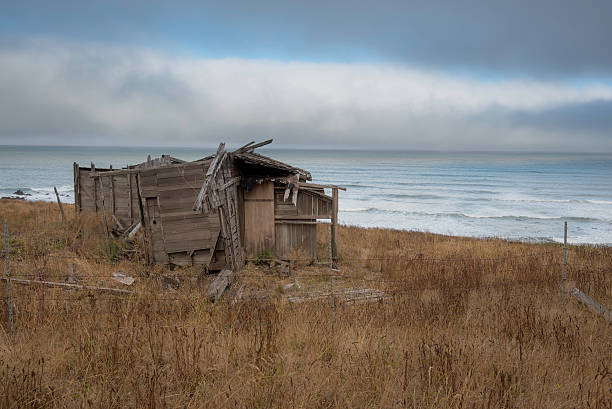 old coastal house - desolated stock pictures, royalty-free photos & images