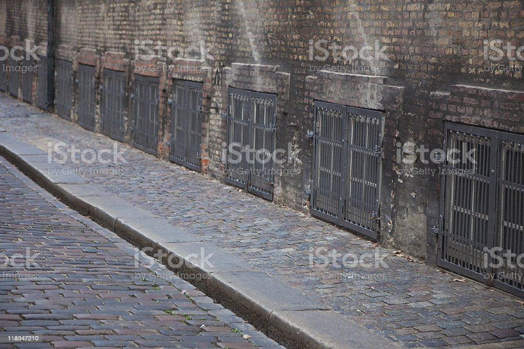Old cobble street royalty-free stock photo