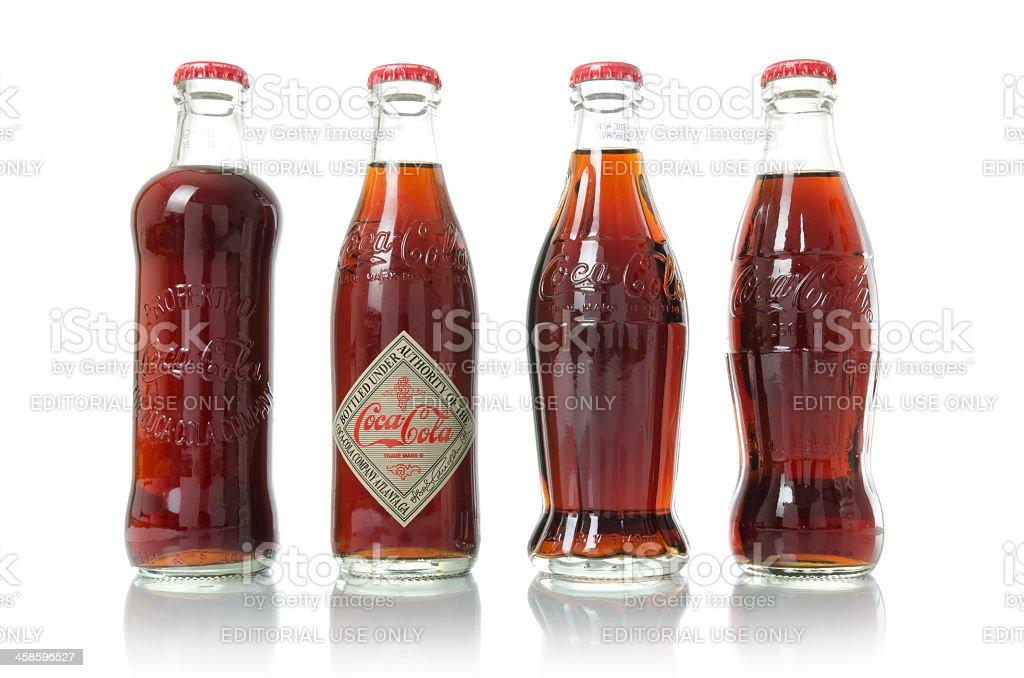 Old Coca-Cola frascos - foto de stock