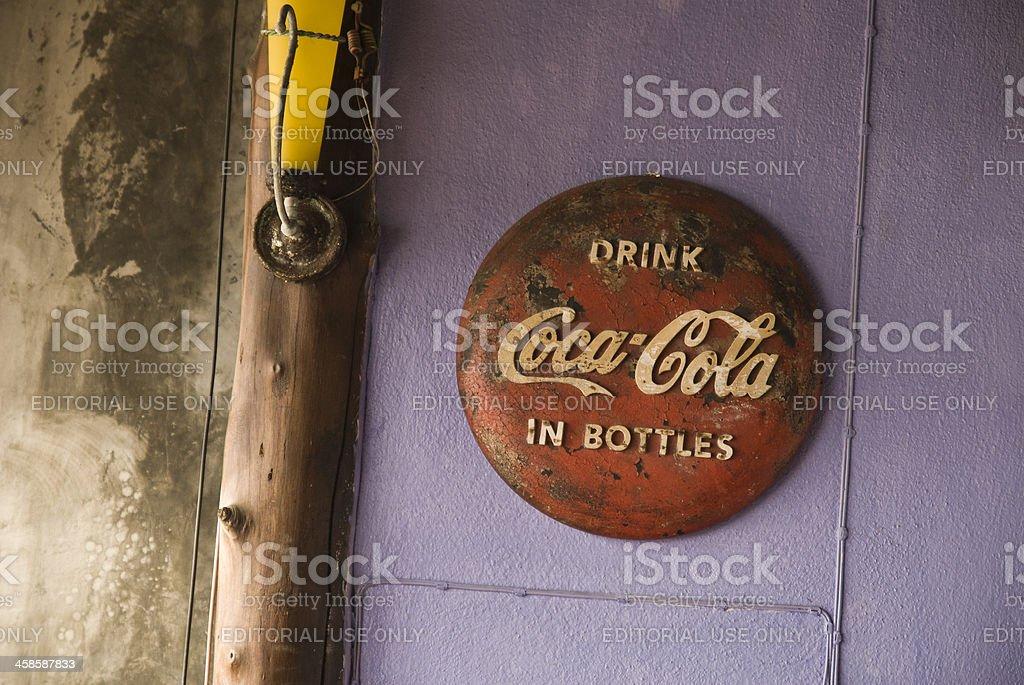 Old Coca-Cola Sign stock photo