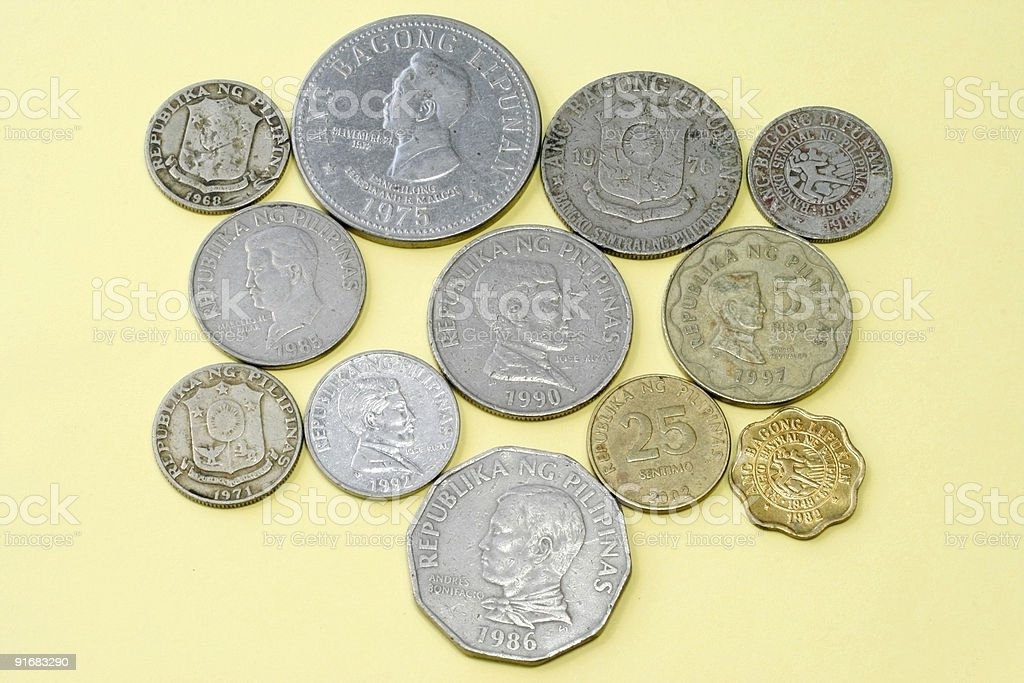 Old Coins of The Philippines stock photo