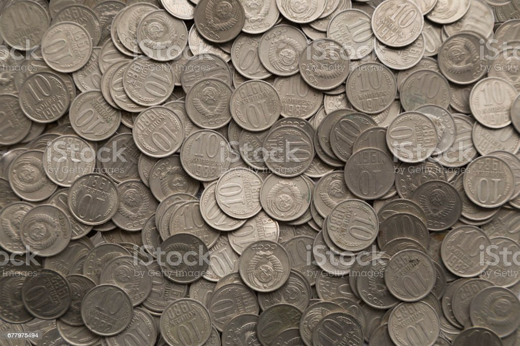 Old coins royalty-free stock photo