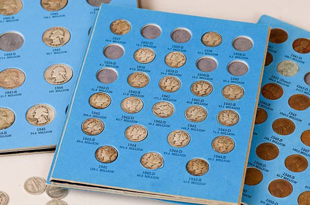 Old Coins - Series stock photo