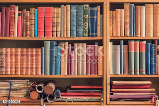 istock Old collection of books 804090024