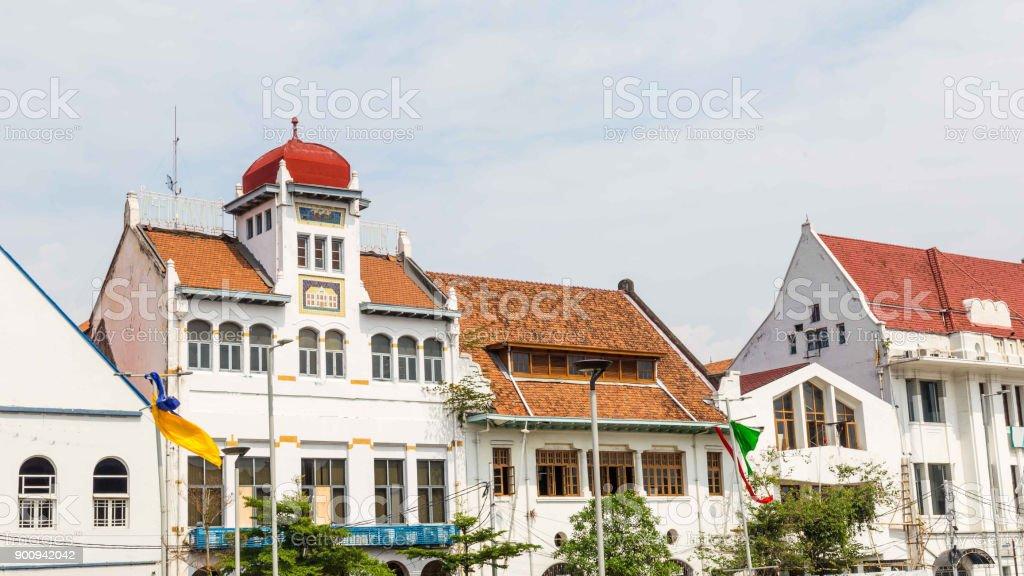 Bâtiment dans la vieille ville de Jakarta, Batavia, Java de vieux colonial - Photo