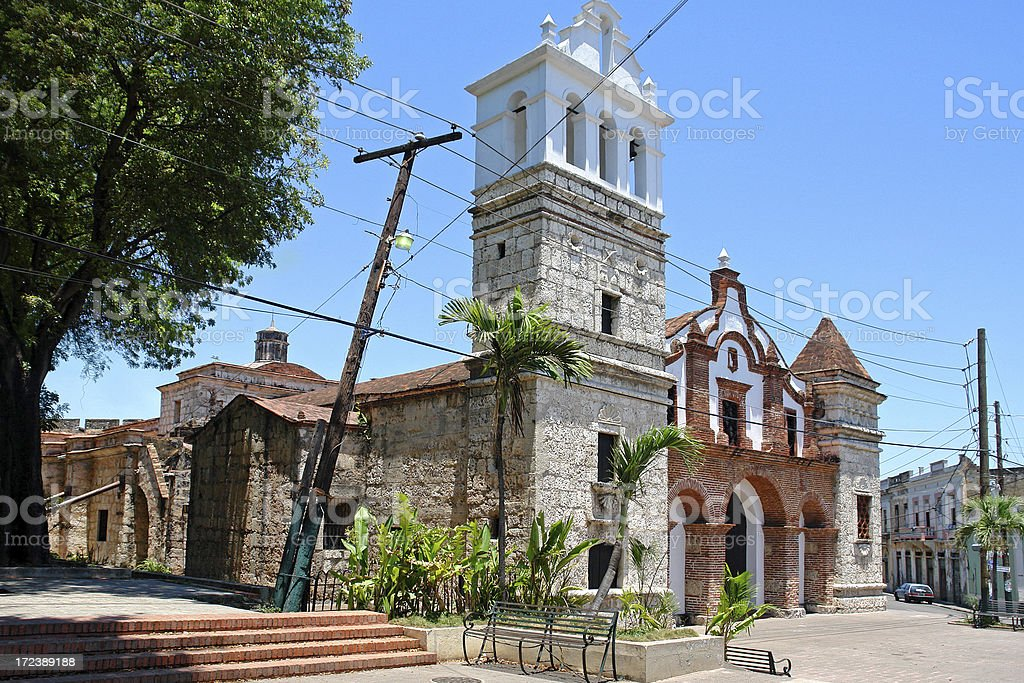 Old Colonial Church in Santo Domingo royalty-free stock photo