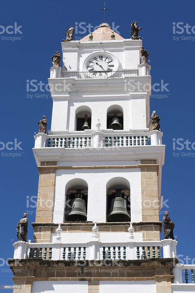 Old colonial church in Sucre, Bolivia. royalty-free stock photo