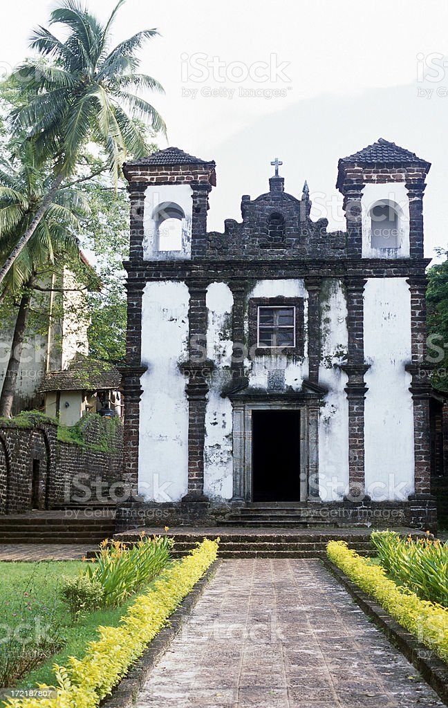 Old Colonial Goa Church royalty-free stock photo