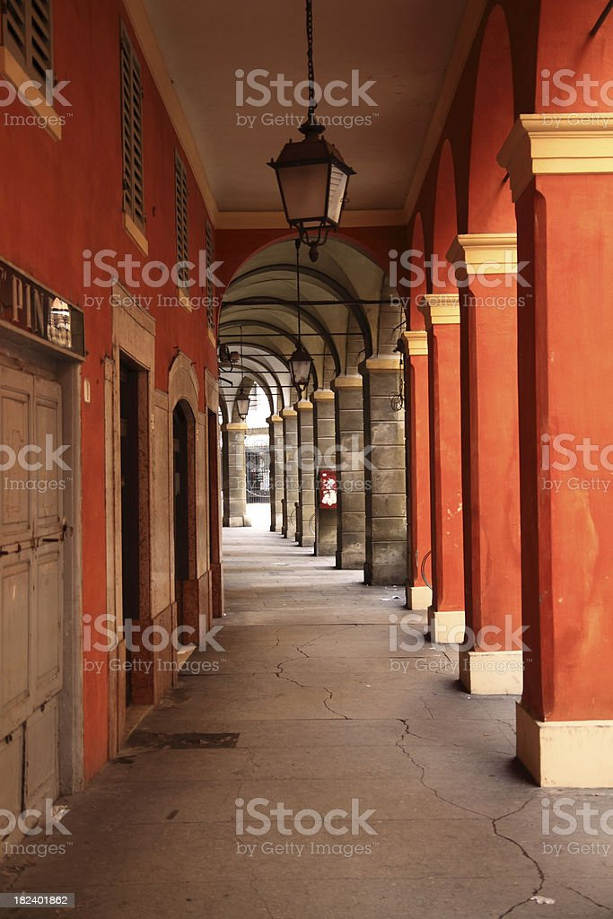 Old colonnade royalty-free stock photo
