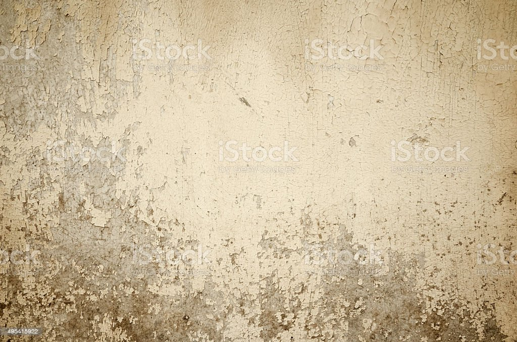 Old color beige wall painted background stock photo