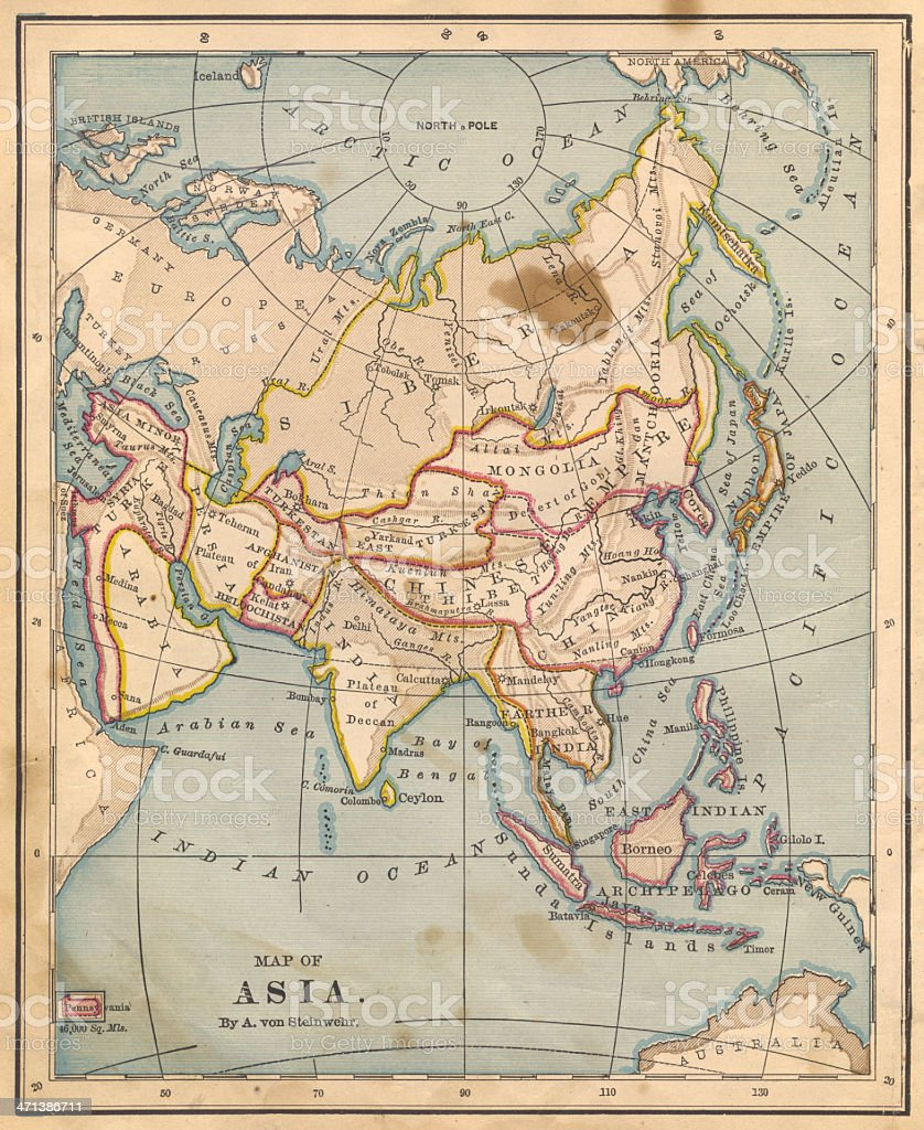 Old Color Map Of Asia From 1800s Stock Photo - Download ... on beijing map asia, color map south america, color map australia, color us map, world clock asia, pyramids of asia, color europe map, north asia, color map united states, shape of asia, compass of asia, color map africa, world map asia, citytime zone map asia, educational maps of asia, coloring pages of animals in asia, color map egypt,