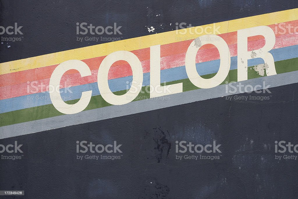 Old Color Wall royalty-free stock photo