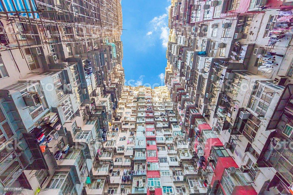 Old Colorful Apartments In Hong Kong China Stock Photo ...