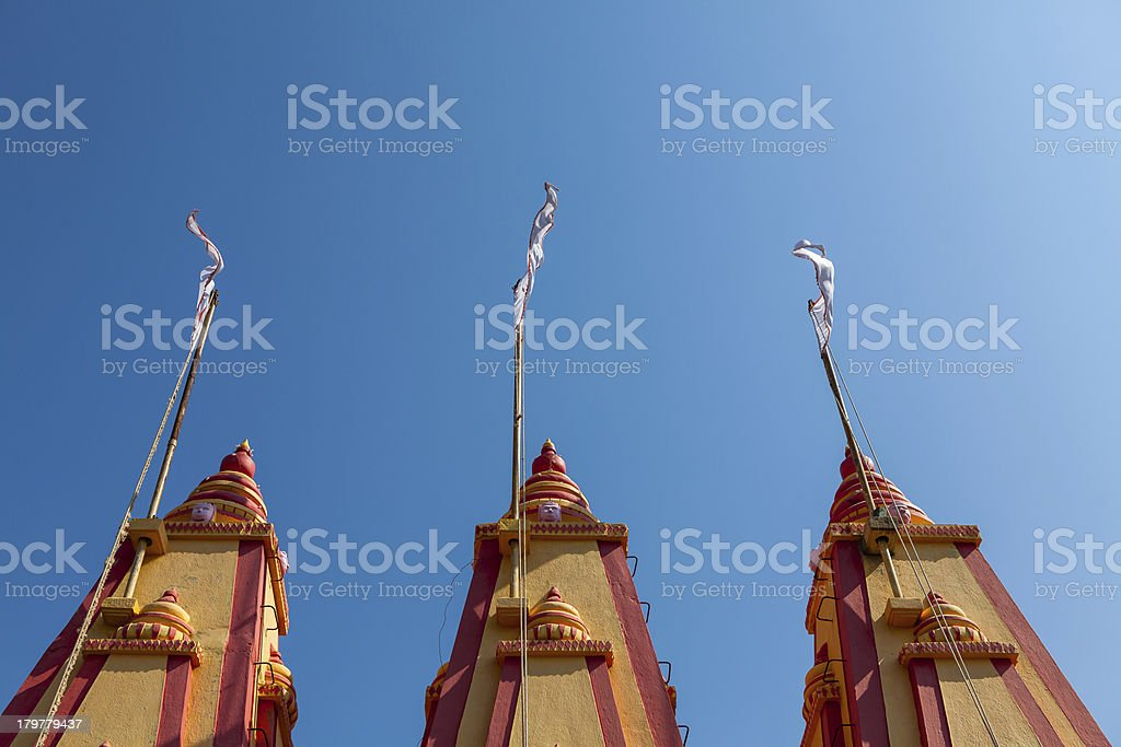 Old colorful temple in India stock photo