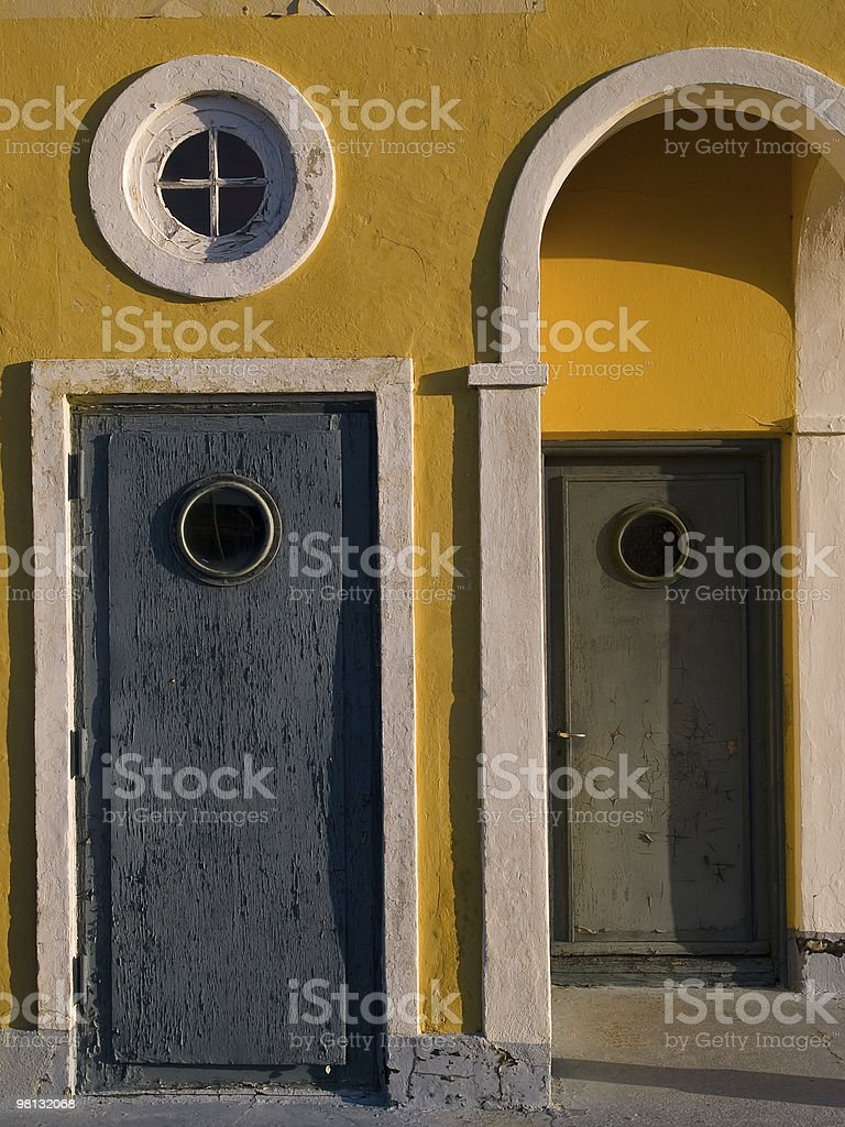 Old colorful wooden doors royalty-free stock photo