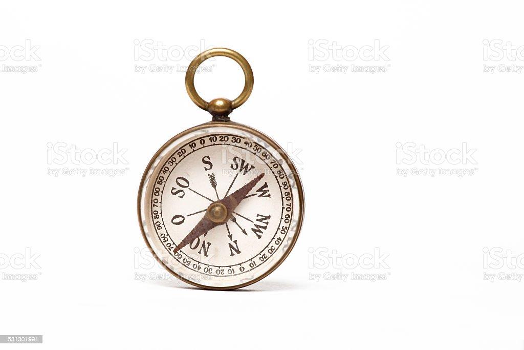 Old Compass close up shot stock photo