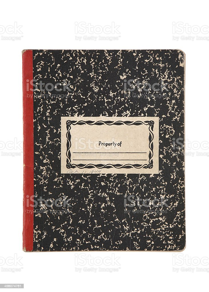 Old Composition Book stock photo