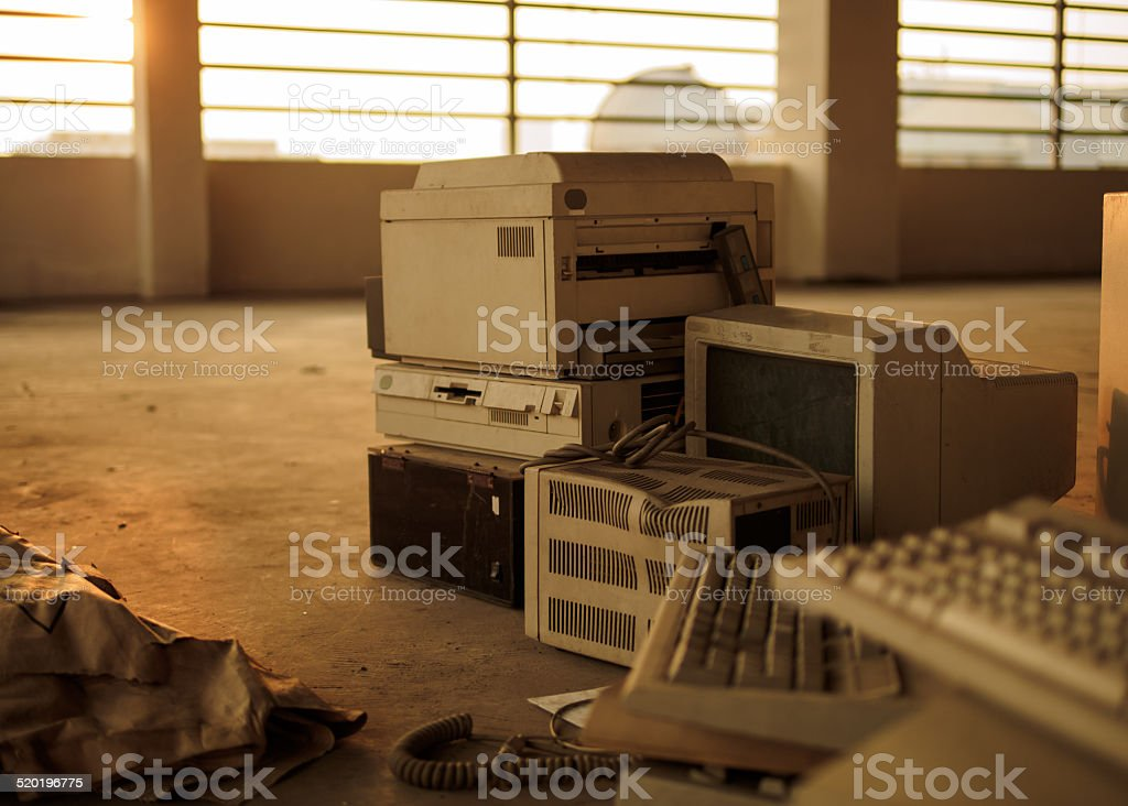 Old Computer Equipment stock photo