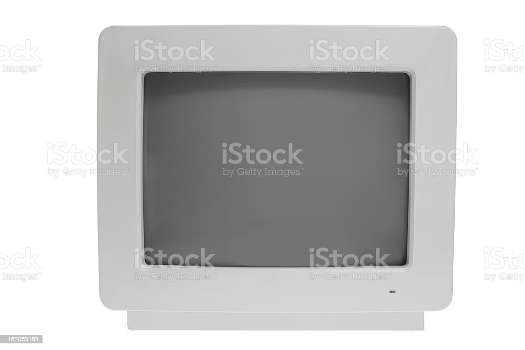 Old Computer Monitor royalty-free stock photo