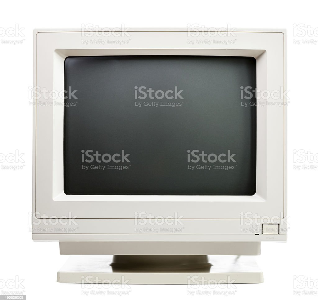 Old computer monitor stock photo