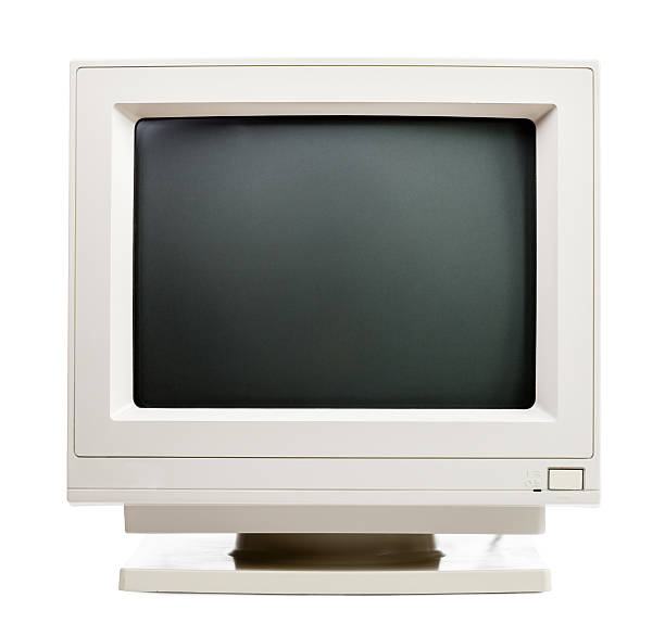 old computer monitor - 1990s style stock photos and pictures