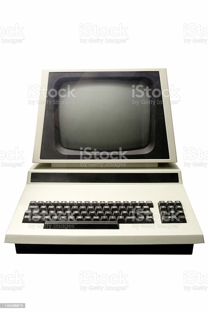 Old Computer stock photo