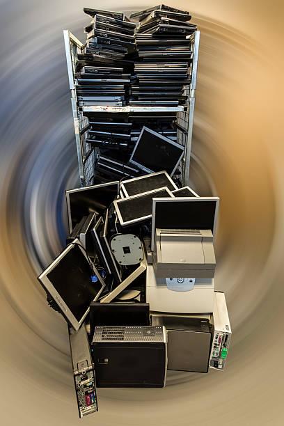 Cтоковое фото Старый компьютеры и ноутбуки.