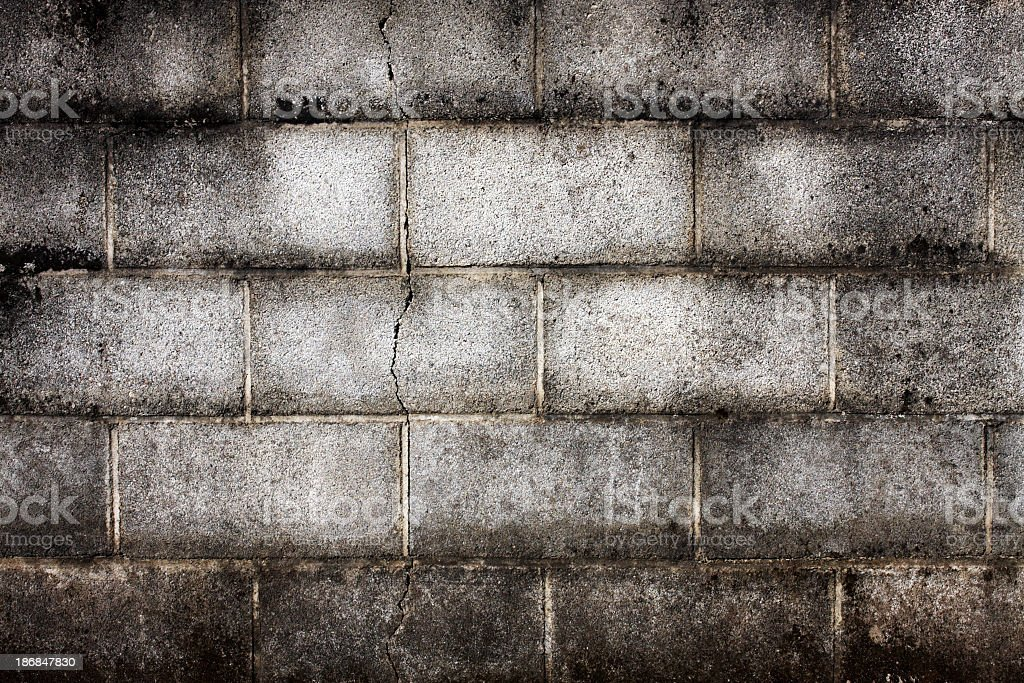Old concrete brick wall royalty-free stock photo
