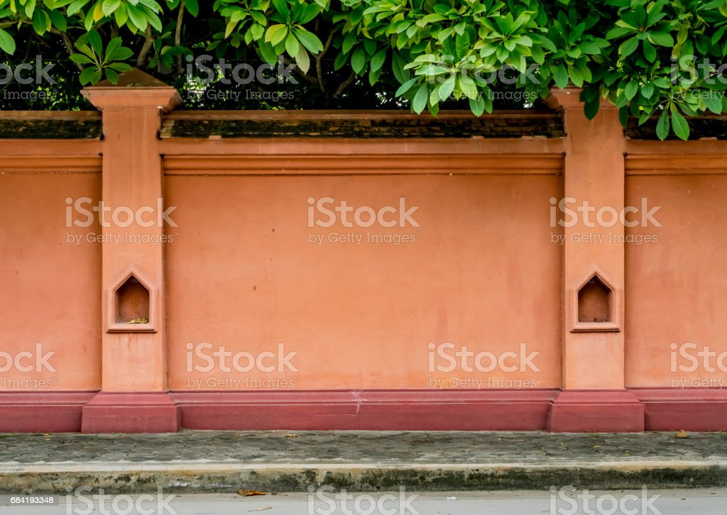 Old concrete fence royalty-free stock photo