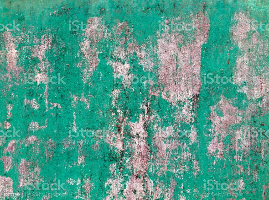 Old concrete grunge green wall stock photo