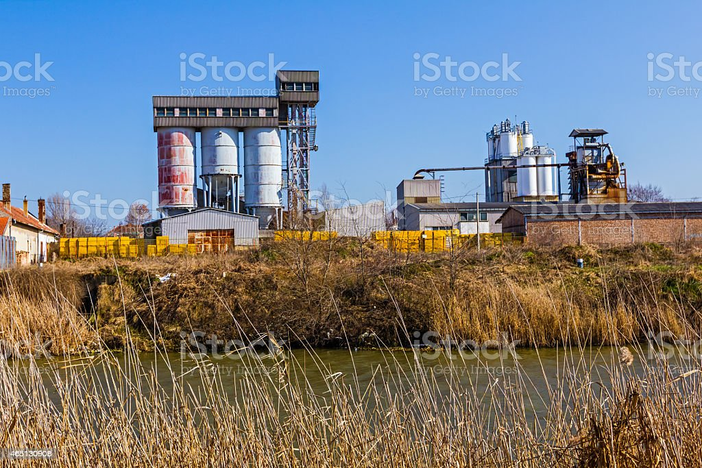 Old Concrete Silo stock photo
