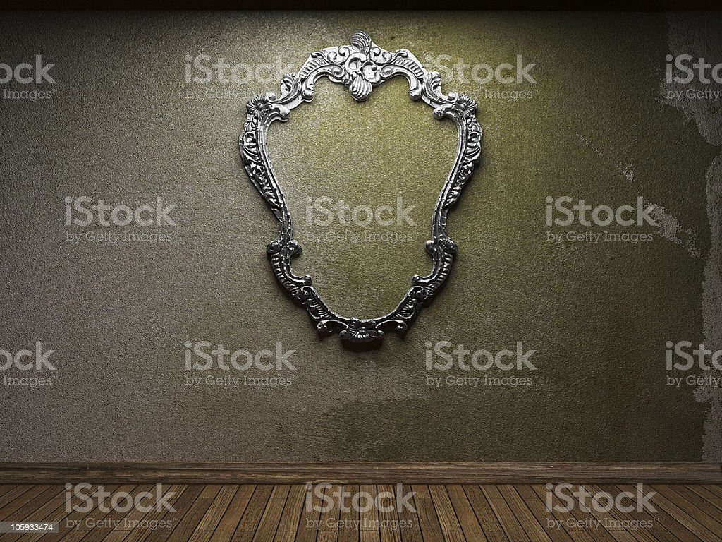 old concrete wall and frame royalty-free stock photo