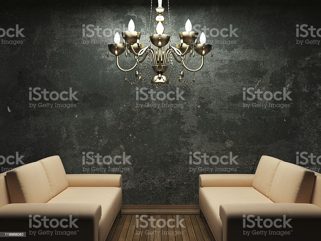 old concrete wall and sofa royalty-free stock photo