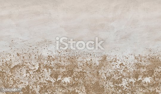 636075756 istock photo Old concrete wall with peeling surface .Texture or background 1200268171