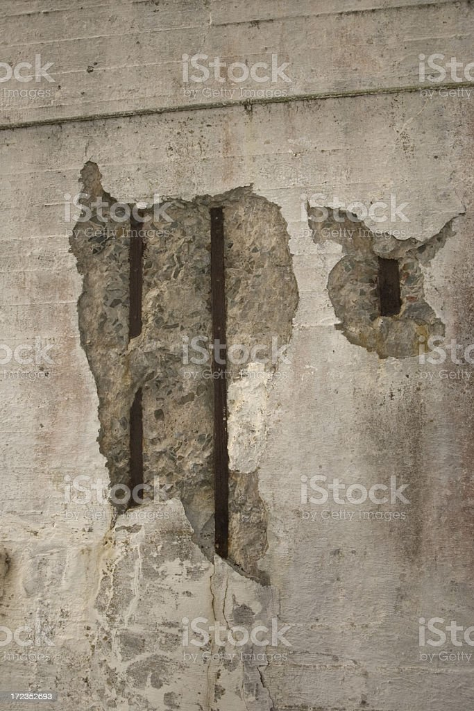 Old Concrete with rusty steelwork royalty-free stock photo