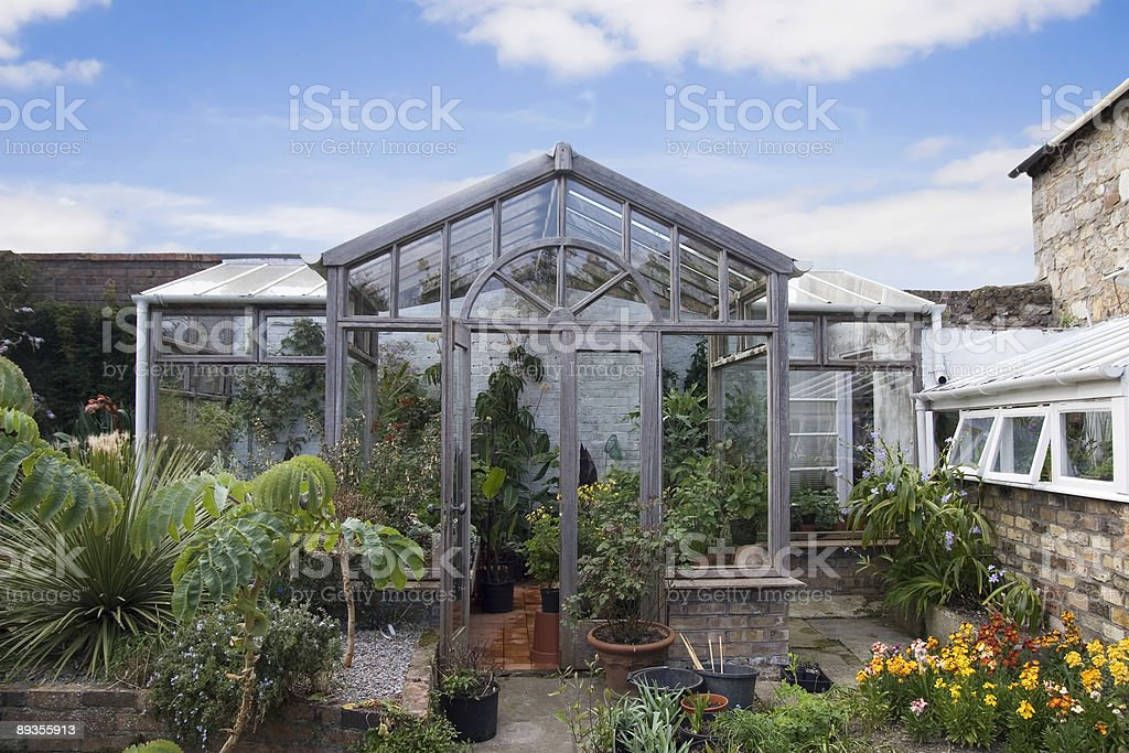 Vecchio conservatory foto stock royalty-free