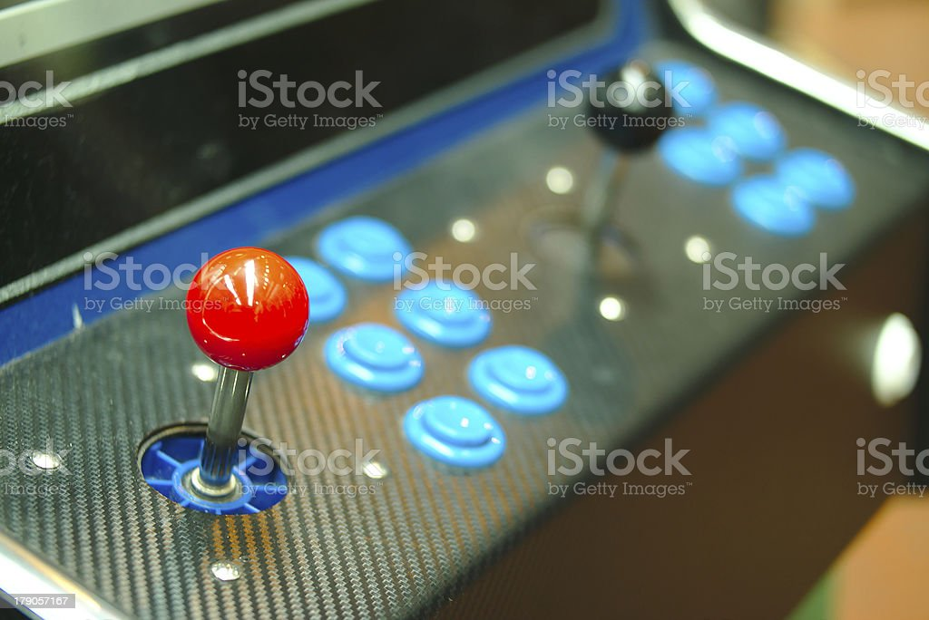 Old console joysticks. royalty-free stock photo