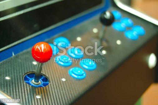 istock Old console joysticks. 179057167