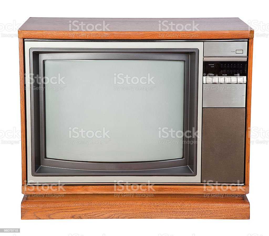 Old Console Television royalty-free stock photo