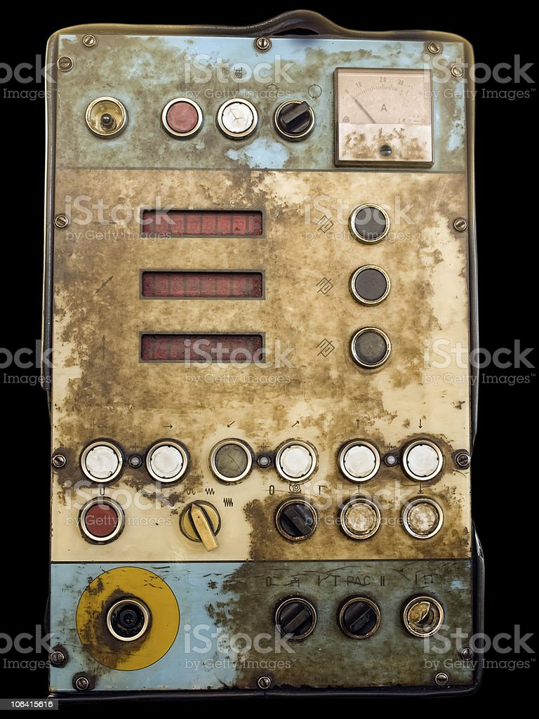 Old control panel royalty-free stock photo