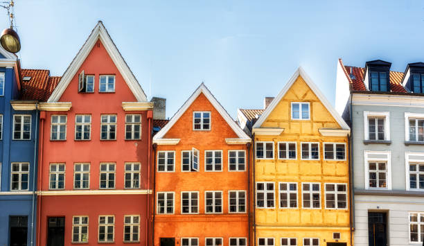 old copenhagen architecture - danimarca foto e immagini stock