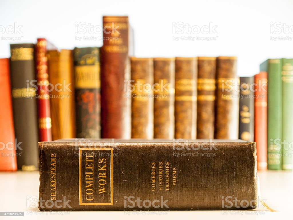 old copy of shakespeares complete works royalty-free stock photo